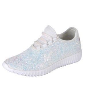 White Iridescent Sparkle Sneakers!